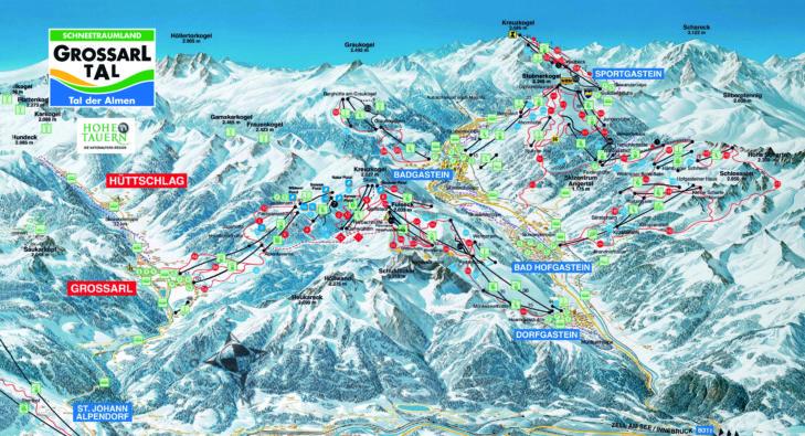 Pistenplan Großarltal-Dorfgastein