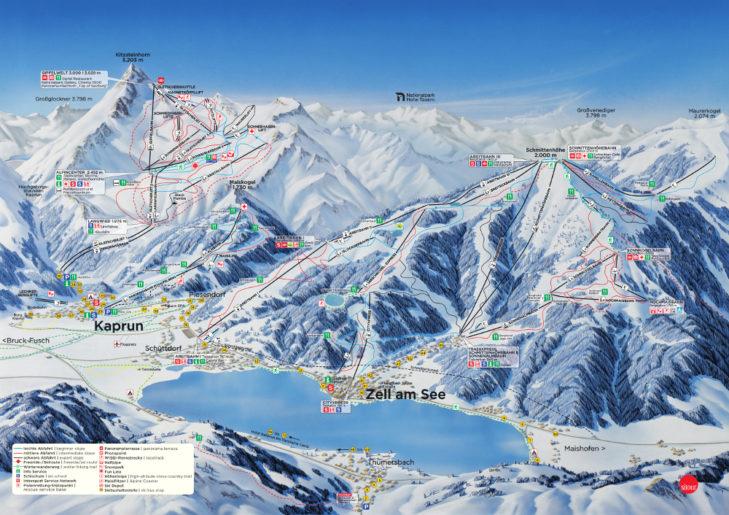 Ski area Zell am See-Kaprun piste map