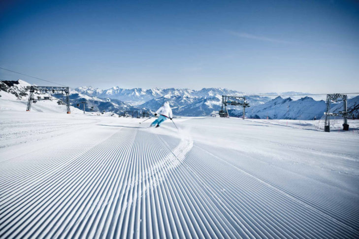 Gletscherskifahren bedeutet reinstes Vergnügen – hier am Kitzsteinhorn in Kaprun.