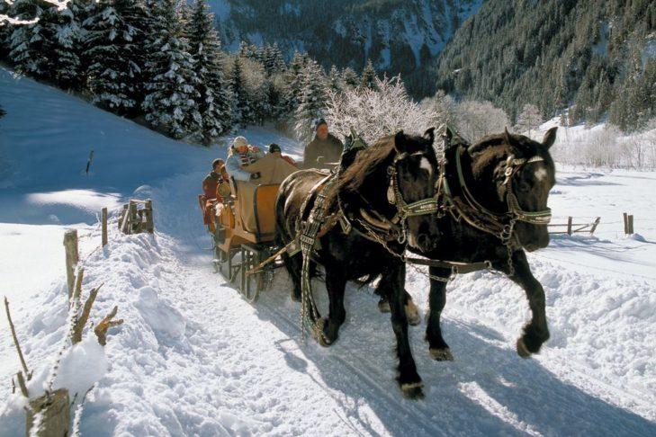 Auch Pferdekutschfahrten gehören zum vielseitigen Programm im Großarltal.