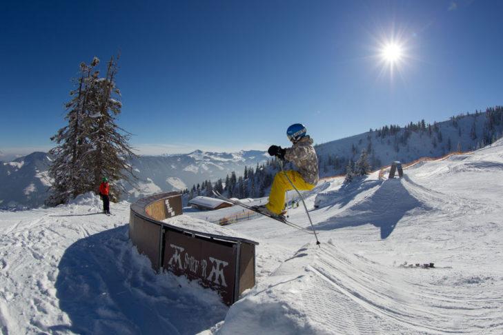 Die Snowparks im Ski Juwel sind bestens ausgestattet.