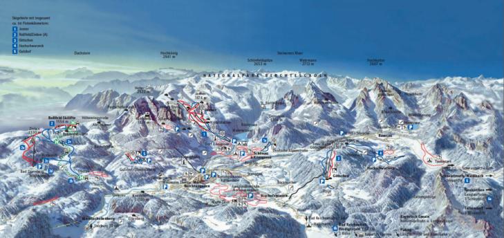 Pistenplan Region Berchtesgaden
