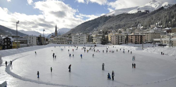 Eislaufplatz in Davos.