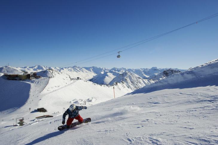 Skigebiet Davos Klosters: Panorama-Piste am Parsenn.