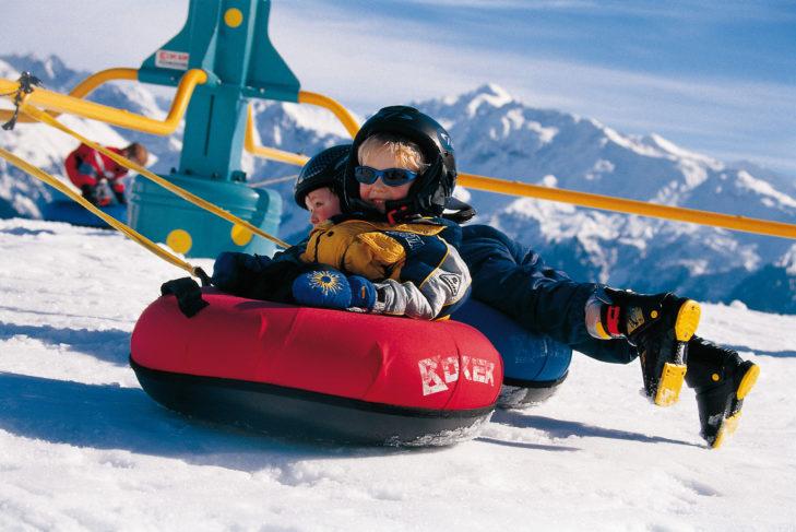 Skigebiet Davos Klosters: Am Madrisa gibt es jede Menge Spielspaß für Kinder.