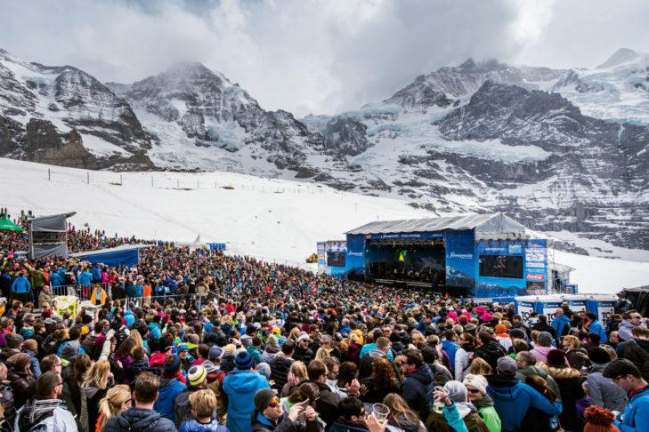 Mitten im Skigebiet von Grindelwald findet das SnowpenAir statt.