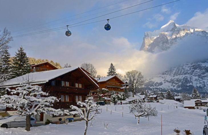Skigebiet Grindelwald: So malerisch kann die Abendstimmung in Grindelwald sein.