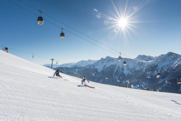 Das Skigebiet Kronplatz: Hier finden Anfänger wie Fortgeschrittene ihre geeignete Piste.
