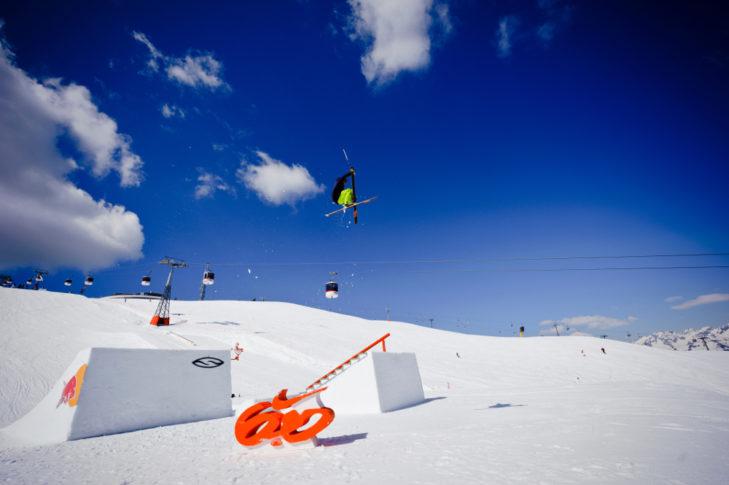 Der Snowpark bietet perfekt geshapte Hindernisse.