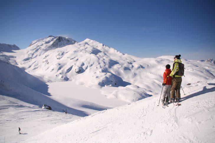 In Les Sybelles gibt es passende Abfahrten für große und kleine Skifahrer.