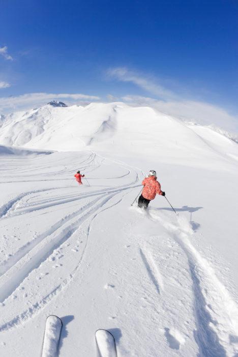 An Schnee mangelt es in Val d'Allos nicht.