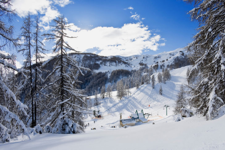 Liftstation im Skigebiet von Val d'Allos.