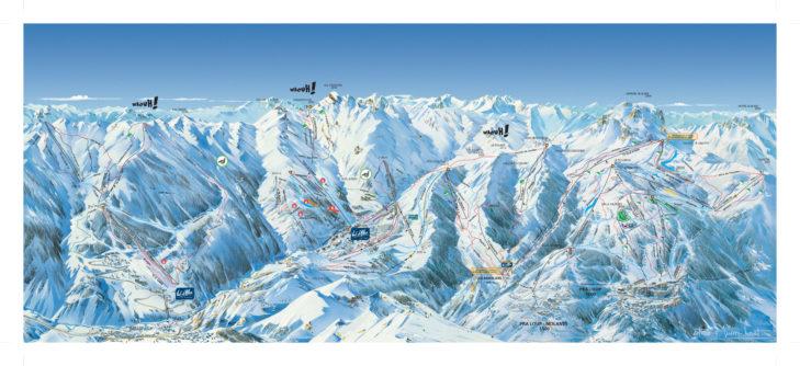 Pistenplan Val D'Allos/Pra Loup