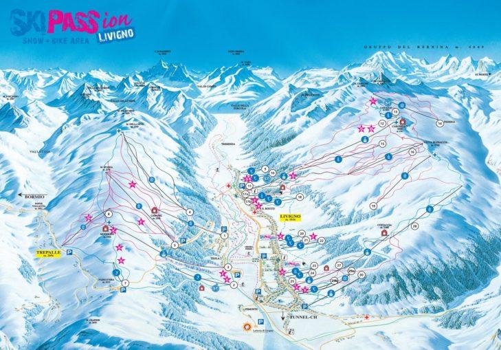 Livigno trail map.