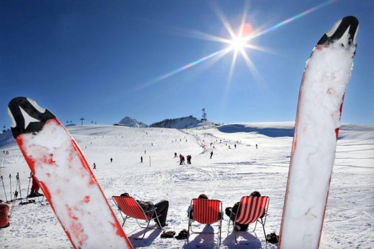 Die Almenwelt Lofer ist während der Wintermonate mit viel Sonnenschein gesegnet.