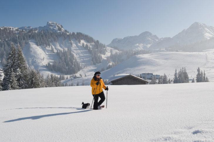 Schneeschuhwandern ist im Saalachtal eine besondere Wonne.