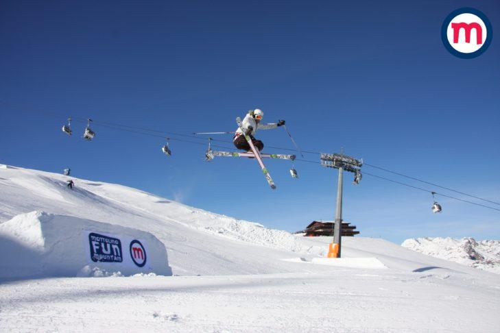 Ein Highlight im Skigebiet ist der Mottolino-Snowpark.