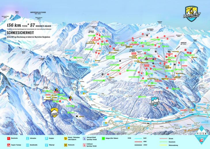 Piste map Mayrhofen & Hippach