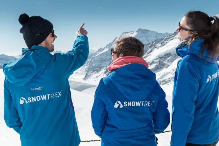 Ausgelassene Stimmung am Jungfraujoch.