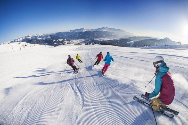 Breite, perfekt präparierte Pisten im snow space Flachau.