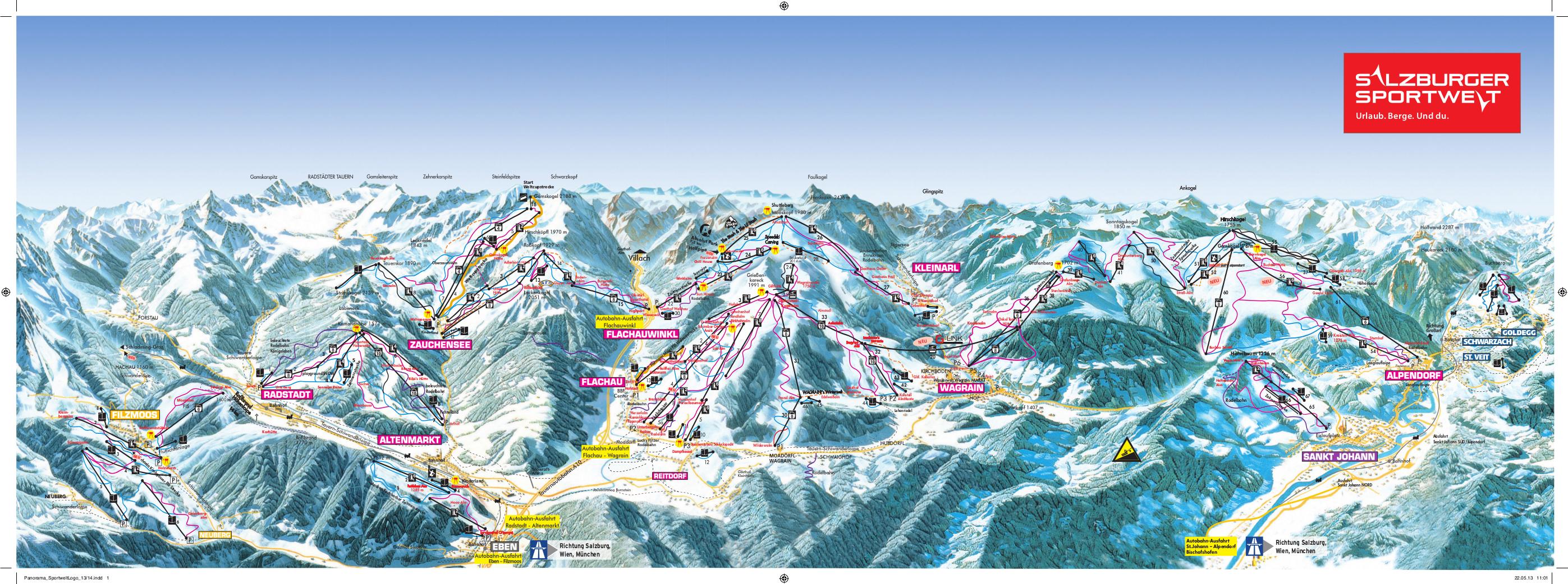 skigebiet flachau salzburger sportwelt skifahren pistenplan apr s ski. Black Bedroom Furniture Sets. Home Design Ideas