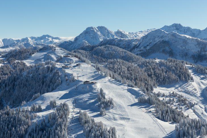 Bewaldeter Pistentraum in St. Johann-Alpendorf.