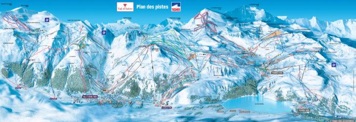 Pistenplan Tignes/Val d'Isère