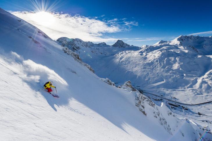 An vielen Stellen im Skigebiet gibt es die Option zum Off-piste fahren.