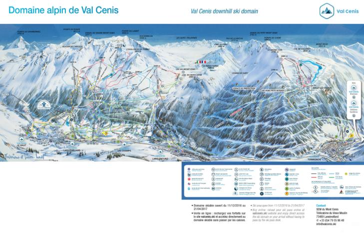 Pistenplan Val Cenis Vanoise