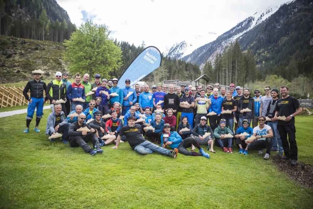 Die Teilnehmer des Venediger Rushs 2017 © www.skitourenwinter.com Mandl/Zimmer