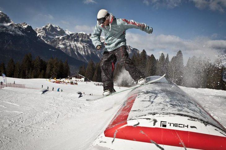 Der Snowpark bietet ein ansehnliches Setup für Freestyler aller Könnerstufen.