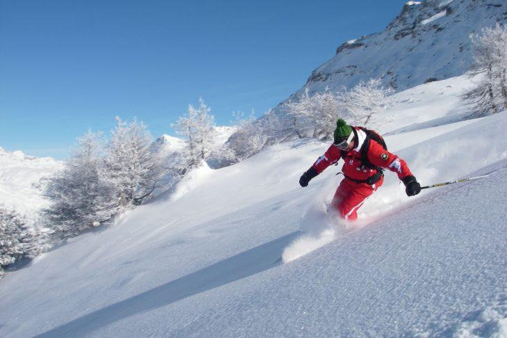 Powdern macht in Val Cenis besonders Spaß.