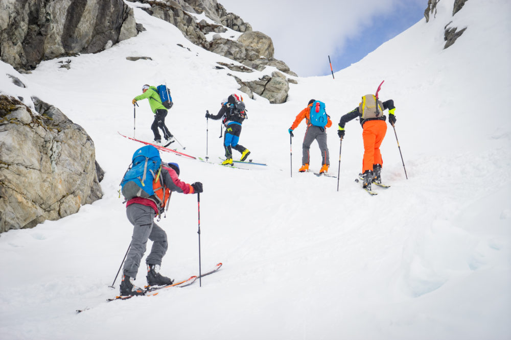Aufstieg zur Kürsinger Hütte am Großvenediger © www.skitourenwinter.com Mandl/Zimmer