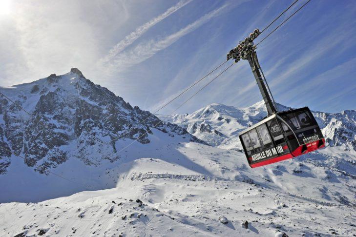 Die Aiguille du Midi in Chamonix.