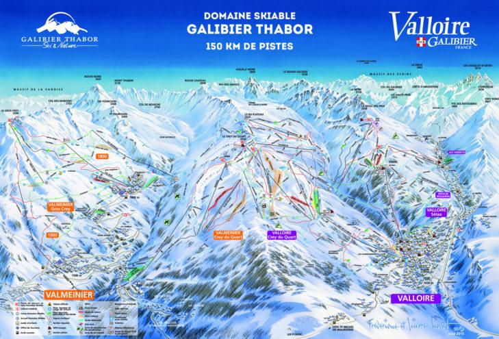 Pistenplan Galibier Thabor.