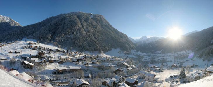 Panorama von Gaschurn.