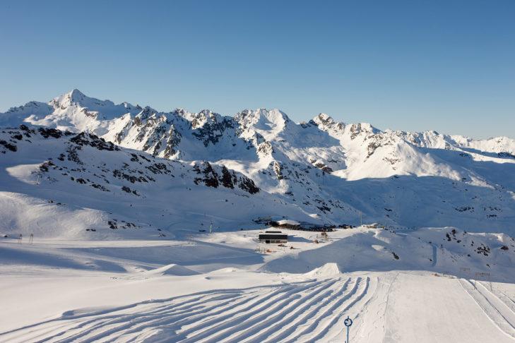 Abfahrt am Kaunertaler Gletscher.