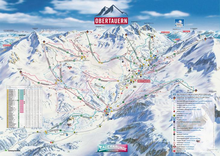 Pistenplan Obertauern