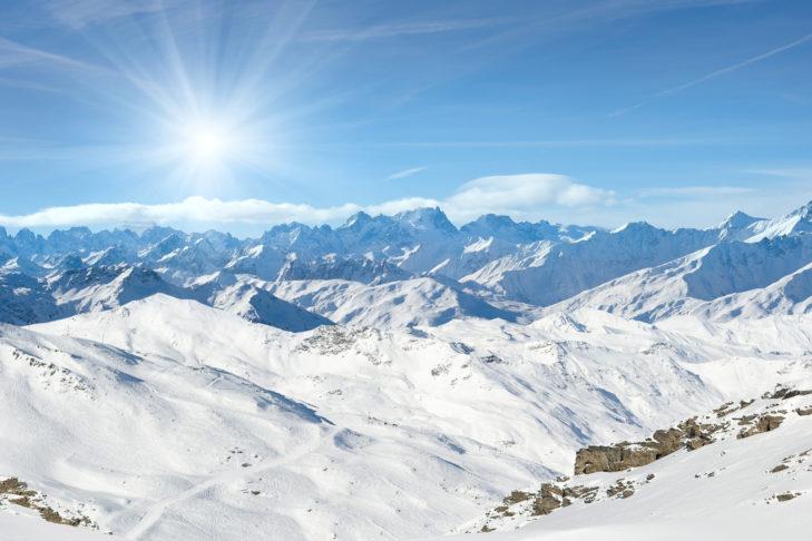Weiße Wunderwelt in Val Thorens - Skifahren im April ist hier ohne weiteres möglich!