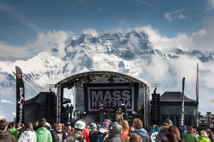 Konzert-Act im Skigebiet Avoriaz.