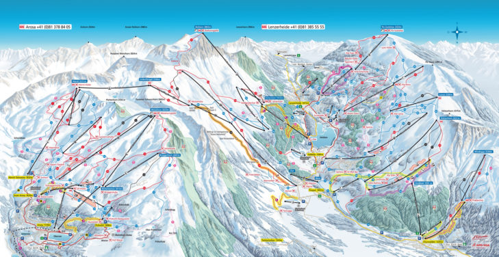 Arosa-Lenzerheide piste map