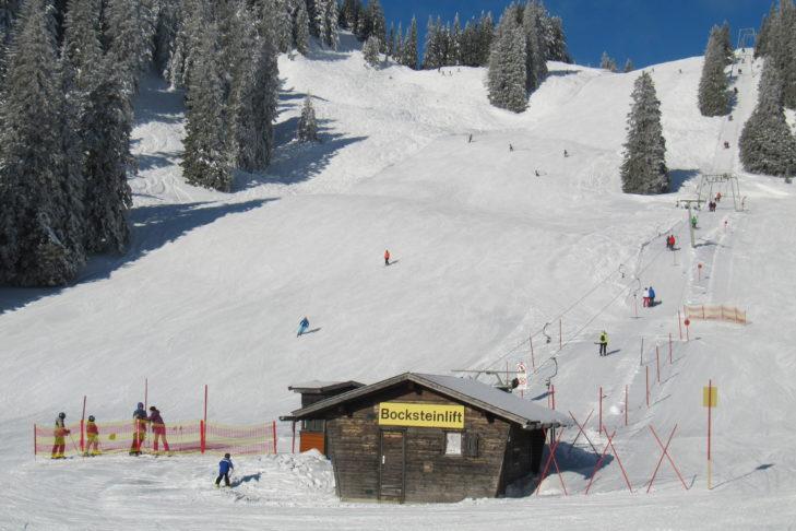 Skigebiet Wendelstein: Die rote Abfahrt am Bocksteinlift ist eine schön breite Genussabfahrt.