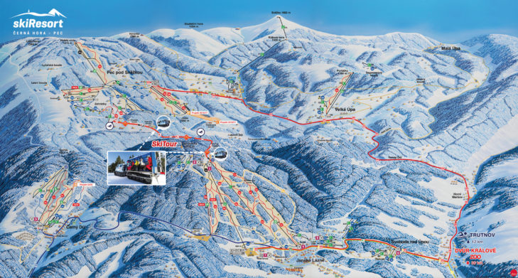 Pistenplan Skigebiet Černý Důl