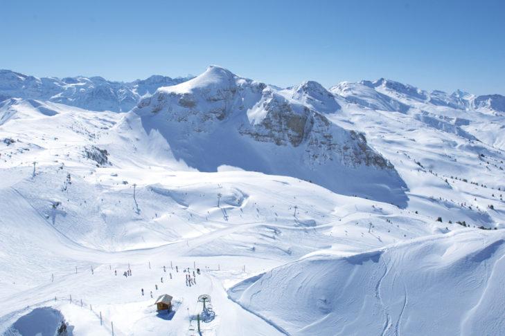 Im Skigebiet Châtel erwarten Wintersportler traumhafte Blicke.