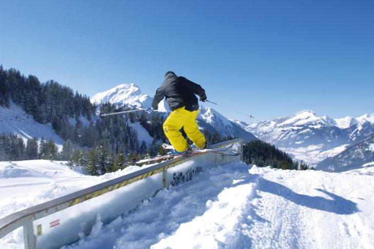 Freestyler finden im Skigebiet Châtel ihre Obstacles.