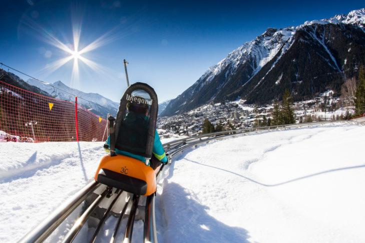 Der Alpine Coaster in Chamonix verspricht eine rasante Fahrt.
