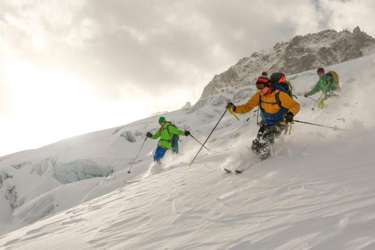 Die Region Chamonix-Mont Blanc ist ein riesiges Eldorado für Freerider.
