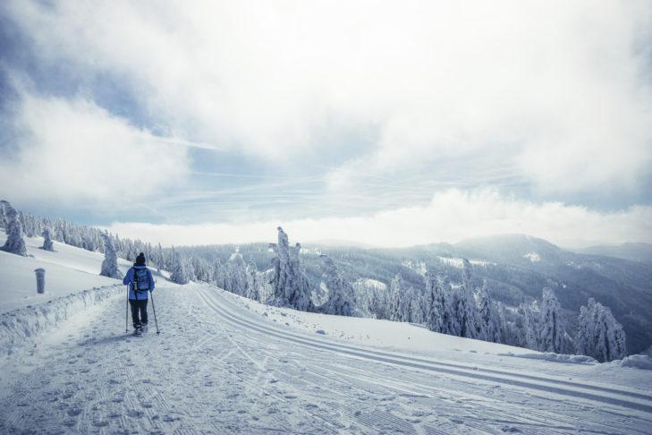 Auf dem verschneiten Feldberg lässt es sich wunderbar winterwandern.
