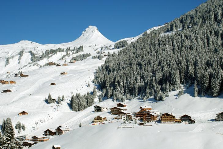 Der Uga-Lift im Skigebiet Damüls.