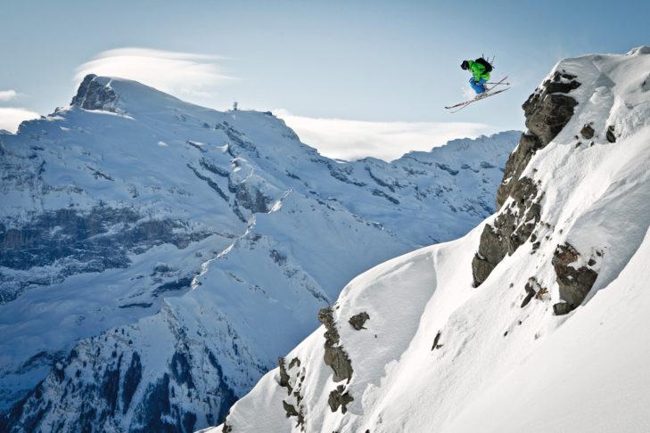 Freerider am Titlis im Skigebiet Engelberg-Titlis.